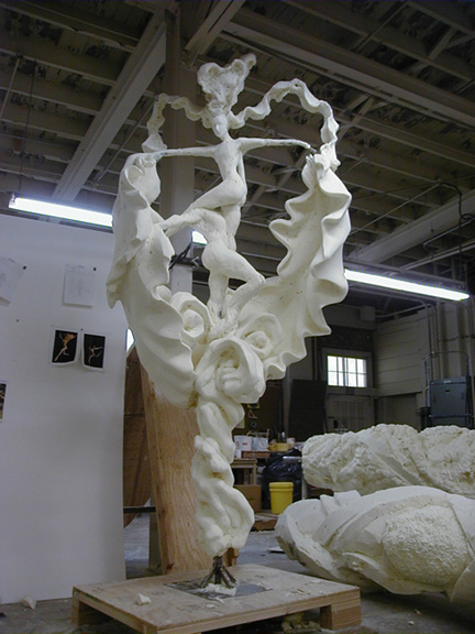 Grand scale foam carving